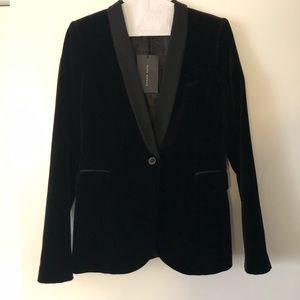 Zara Woman Small Velvet Blazer NWT